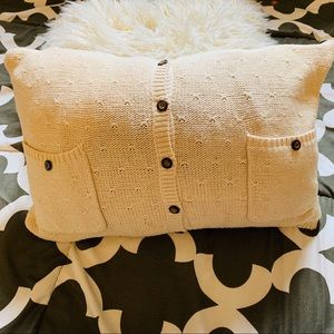 Other - Handmade sweater throw pillow tan